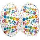 Luftballon Zahl 70 Bunt Konfetti Folie 60cm