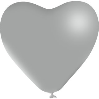 Herzballon Silber ø40cm