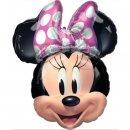 Luftballon Minnie Maus Kopf Folie 66cm