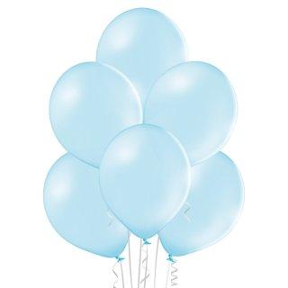 100 Luftballons Blau-Hellblau Pastell 35cm