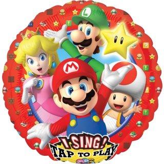 Singender Luftballon Super Mario Folie ø71cm