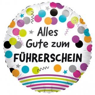 Luftballon Alles Gute zum Führerschein Folie ø43cm