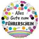 Luftballon Alles Gute zum Führerschein Folie...