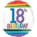 Luftballon Zahl 18 Birthday Bunt Folie ø43cm