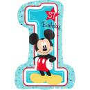 Luftballon Zahl 1 Mickey Maus Birthday Folie 71cm