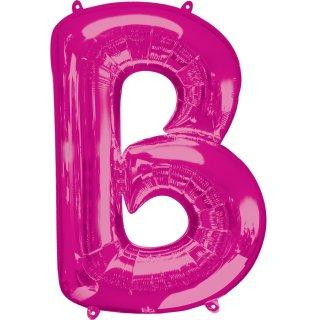 Luftballon Buchstabe B Pink Folie ca 86cm