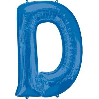 Luftballon Buchstabe D Blau Folie ca 86cm
