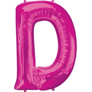 Luftballon Buchstabe D Pink Folie ca 86cm