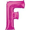 Luftballon Buchstabe F Pink Folie ca 86cm
