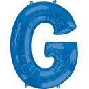 Luftballon Buchstabe G Blau Folie ca 86cm
