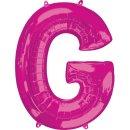 Luftballon Buchstabe G Pink Folie ca 86cm
