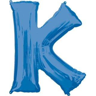 Luftballon Buchstabe K Blau Folie ca 86cm