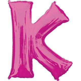 Luftballon Buchstabe K Pink Folie ca 86cm