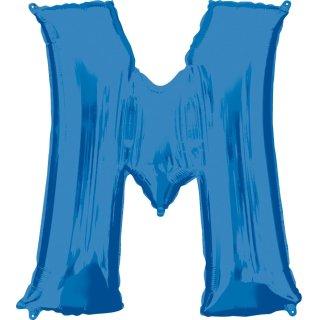 Luftballon Buchstabe M Blau Folie ca 86cm