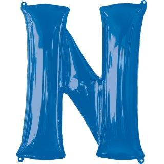 Luftballon Buchstabe N Blau Folie ca 86cm