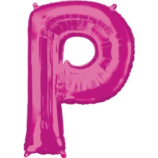 Luftballon Buchstabe P Pink Folie ca 86cm