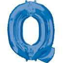 Luftballon Buchstabe Q Blau Folie ca 86cm