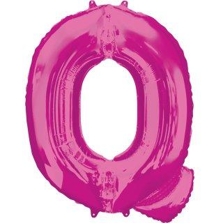 Luftballon Buchstabe Q Pink Folie ca 86cm