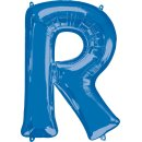Luftballon Buchstabe R Blau Folie ca 86cm