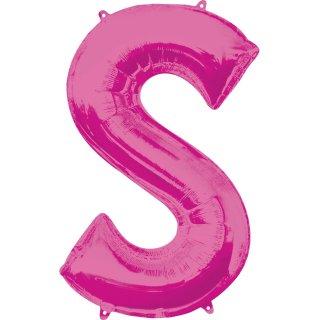 Luftballon Buchstabe S Pink Folie ca 86cm