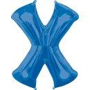 Luftballon Buchstabe X Blau Folie ca 86cm