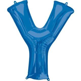 Luftballon Buchstabe Y Blau Folie ca 86cm