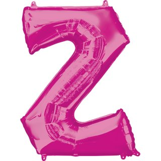 Luftballon Buchstabe Z Pink Folie ca 86cm