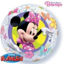 Folienballon MINNIE MOUSE ø55 cm BUBBLE ungefüllt