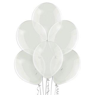 100 Luftballons Klar Kristall ø23cm