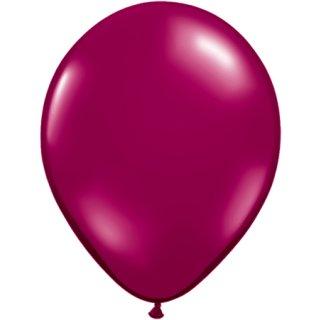 100 Luftballons Burgund Metallic ø23cm