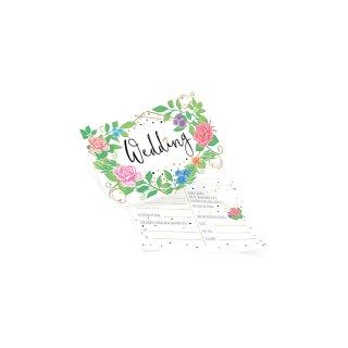 50 Ballonflugkarten WEDDING Blumen