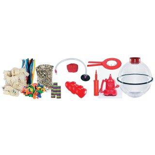 Ballon-Verpackungskugel mit Erstausstattung und Spreizzange