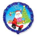 Luftballon Mrerry christmas Weihnachtsmann Folie...