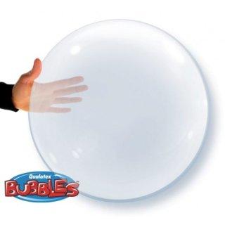 Folienballon DECO KLAR ø50 cm BUBBLE ohne Selbstschliessendem Ventil ungefüllt