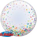 Luftballon Deco Klar Konfetti Mix Bubble Folie ø60cm