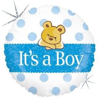 Luftballon Boy Bär Folie ø45cm
