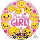 Singender Luftballon Baby Girl Folie ø71cm