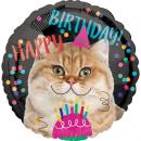 Luftballon Happy Birthday Katze Folie ø45cm