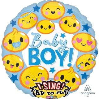 Singender Luftballon Baby Boy Folie ø71cm