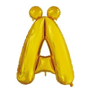 Luftballon Buchstabe AE Gold Folie ca 86cm