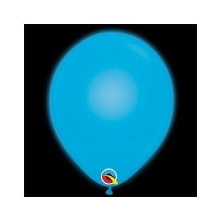 5 LED Luftballons Blau-Hellblau ø28cm