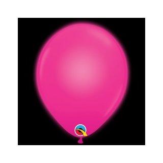 5 LED Luftballons Pink ø25cm