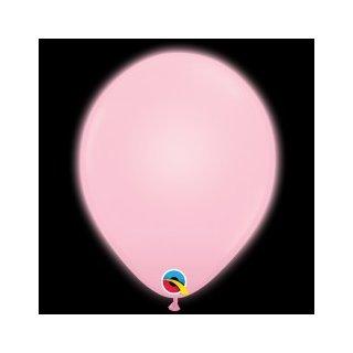 5 LED Luftballons Rosa Hell ø28cm
