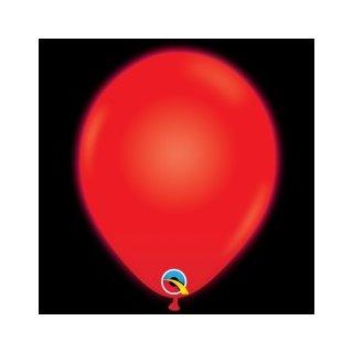 5 LED Luftballons Rot ø28 cm Qualatex
