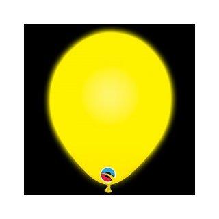 5 LED Luftballons Gelb ø25cm