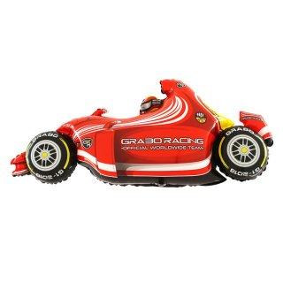 Luftballon Rennwagen Formula 1 Rot Folie 125cm