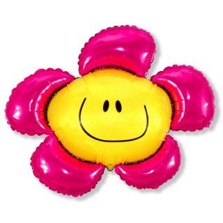 Luftballon Blume pink Folie 104cm