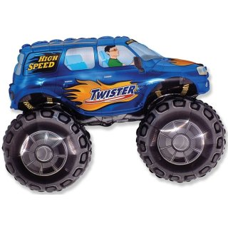 Folienballon MONSTERTRUCK blau 95 cm