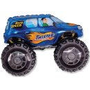 Luftballon Monstertruck Blau Folie 95cm