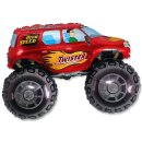 Luftballon Monstertruck Rot Folie 95cm